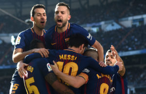 But not for much longer - Barcelona are top of La Liga
