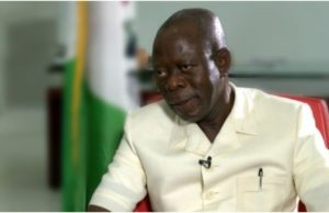 Oshiomhole speaks on returning as APC chairman after meeting with Buhari on Monday