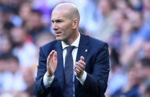 Real Madrid manager, Zinedine Zidane, reacts as Real Madrid open two-point gap ahead of Barcelona