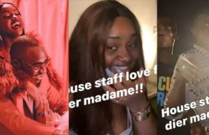 Aloma DMW, Peruzzi and Davido's house staff sing for Chioma on her birthday (Video)