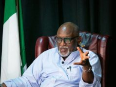 Ondo Governor, Akeredolu tests positive for COVID-19