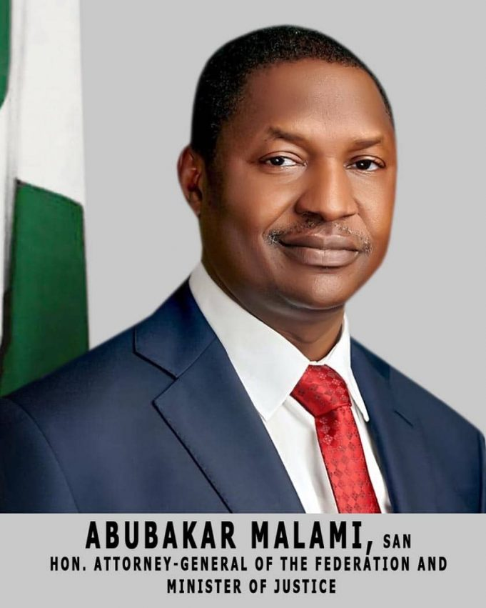 Malami responds to critics attack over swearing-in of APC Chairman