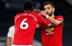 Bruno Fernandes reacts to Man Utd's 3-1 defeat to Chelsea