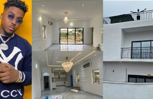 Double celebration as Nigerian Singer, Skiibii marks his birthday with a new mansion (Photos/Video)