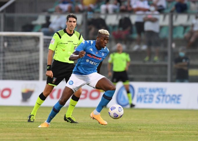 Osimhen nets hat-trick in Napoli debut