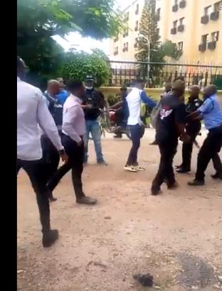 Policemen say as they assault young Nigerians protesting against increased electricity tariff - You don't have the right to protest (videos)