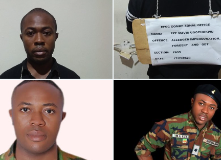 Bauchi Polytechnic student who parades himself as an Army Lieutenant so he can defraud people, has been arrested (photos) || PEAKVIBEZ