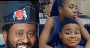 Desmond Elliot shares new photos of his twins to celebrate them as they turn 10 || PEAKVIBEZ