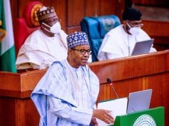 President Buhari presents N13.08trn 2021 budget proposal to National Assembly members