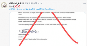 ASUU denies suspending strike and reveals that FG has said it will resume meetings with them || PEAKVIBEZ