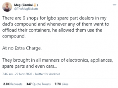 Yoruba woman apologizes to Igbo people for what was done to them during the Nigerian Civil War as she narrates her dad's relationship with his Igbo tenants