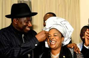 """""""I will choose you to be my husband over and over"""" – Former first lady, Patience Jonathan tells Goodluck Jonathan    PEAKVIBEZ"""