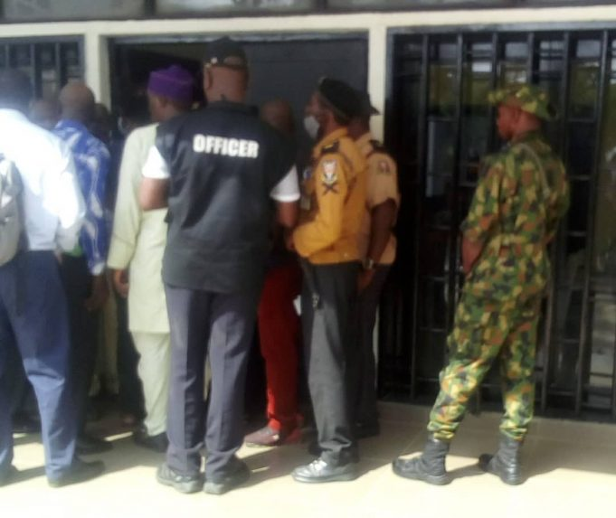 BREAKING: VC race: Soldiers, DSS storm UI over selection of VC [PHOTOS]