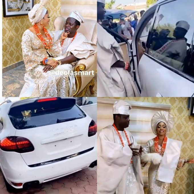 Malivelihood gifts his wife Deola Smart a Porsche Cayenne at their traditional wedding [photos] || PEAKVIBEZ