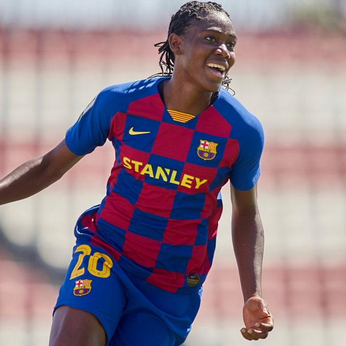 Super Falcons star, Asisat Oshoala nominated for 2020 UEFA fans' Women's Team of the Year || PEAKVIBEZ