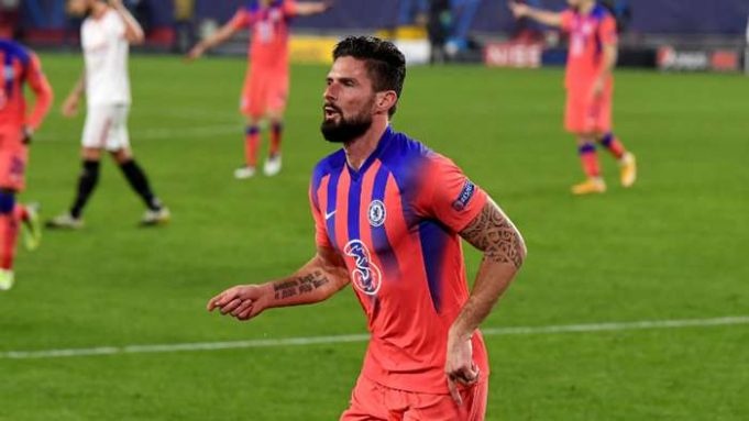 Giroud smashes Champions League records with four-goal haul in Chelsea win at Sevilla