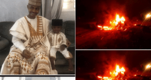 Nigerian man, wife and four children burnt to death in a fatal accident (photos) || PEAKVIBEZ