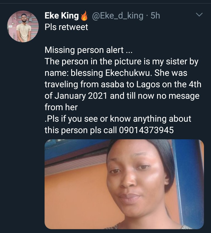 Missing Person Alert