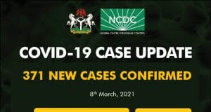371 new cases of COVID19 recorded in Nigeria