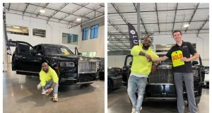 Nigerian man laments after seeing a Rolls Royce similar to that of Davido randomly parked on the roadside [Video] || PEAKVIBEZ