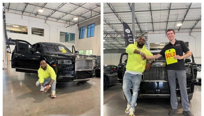 Nigerian man laments after seeing a Rolls Royce similar to that of Davido randomly parked on the roadside [Video]    PEAKVIBEZ