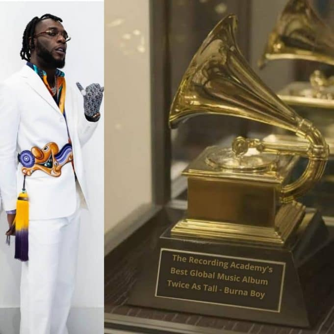 """Burna Boy says as he takes delivery of his Grammy Award – """"I am a product of sacrifice"""" [Video] 