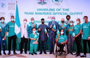 VP Osinbajo unveils team Nigeria?s official outfit to Tokyo Olympics, sends forth athletes (photos)    PEAKVIBEZ